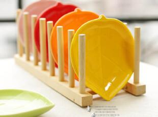 五彩缤纷 陶瓷小菜碟/点心碟 陶瓷杯垫 5色入 凉菜碟子,盘碟,