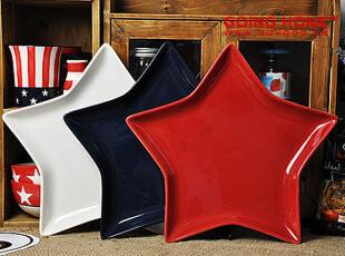 美国星旗 五角星异型盘 水果盘 零食盘 装饰盘 瑕疵特惠,盘碟,