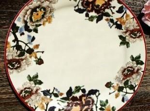 美克美家古典/新派水墨画陶瓷餐具/墙壁装饰挂盘/西餐盘/水果盘,盘碟,