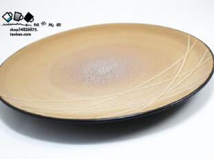 外贸瓷器 陶瓷盘餐具 大盘子果盘 西餐盘牛排盘寿司盘装饰盘800g,盘碟,