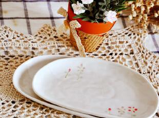 日式和风小碟 小盘 手绘餐具 冷菜盘 料理盘 陶瓷碟 酱料碟 椭圆,盘碟,