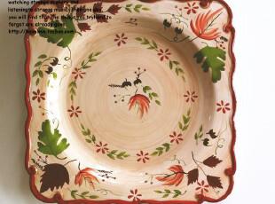 【有爱小铺】杂货 zakka 家居 田园花卉陶瓷大圆盘餐盘 果盘,盘碟,