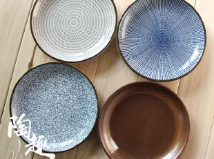 【日式餐厅陶瓷】传统和风分餐盘子/调味碟 外贸原单陶瓷300731~9,盘碟,