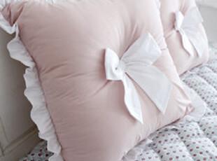 *韩国进口家居*粉色布艺蝴蝶结装饰靠垫 n1120,盘碟,