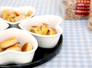 外贸原单 黑白陶瓷心形点心套碟 零食碟 甜品碗 冷菜盘 水果盘,盘碟,