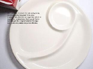 出口宾馆骨瓷  象牙白 流线造型西餐盘子、牛排盘、分隔盘 ,盘碟,