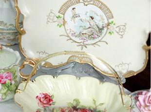 『韩国网站代购』足以惊艳到自己 丰盛水彩画感花朵盘子,盘碟,