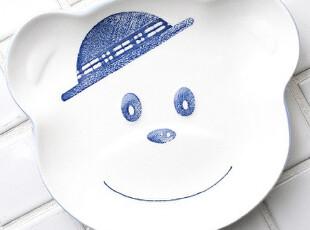 ★公主梦想★韩国家居*来自日本*戴帽子的泰迪小熊*造型餐盘W1102,盘碟,