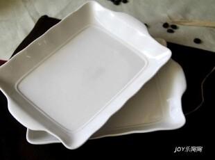 欧美品牌 陶瓷餐具 双耳长方形烘焙烤盘 焗饭盘 意大利面盘 鱼盘,盘碟,