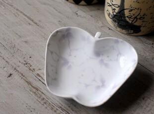 外贸日单陶瓷 ZAKKA 樱花 苹果形 碟子,盘碟,
