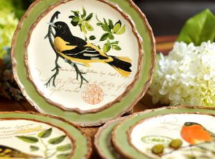 JP3688 尾货mud*pie品牌 Nesting系列 装饰盘 8寸餐盘 鸟,盘碟,
