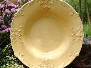 【汤盘】巴洛克浮雕气质:阳光蜜蜡感的普罗旺斯,盘碟,