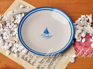 Bao ZAKKA 日单 杂货 帆船与海锚 复古海洋系列 帆船小碟,盘碟,