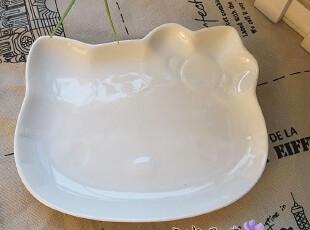 外贸陶瓷宾馆餐具日式骨瓷猫脸异形创意盘可爱卡通点心碟子优选品,盘碟,