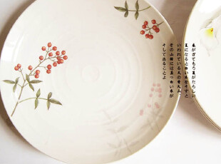出口骨瓷 Ouchi Junko大内顺子系列 山楂果海鲜盘子、水果盘,盘碟,