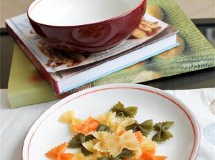 外贸陶瓷餐具英国名品丹蓓新骨瓷红色餐盘/果盘,盘碟,