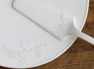 北欧表情/美克美家法式乡村浮雕陶瓷餐具/芙莱伊蔓纹蛋糕托盘,盘碟,