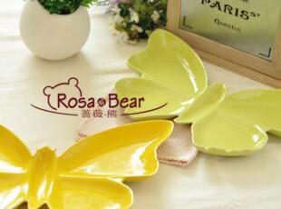 超精美蝴蝶餐盘(多色可选)果盘 家居陶瓷 外贸 出口,盘碟,