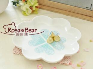 心心相印沙拉盘 餐盘 点心盘 家居陶瓷 外贸 出口,盘碟,