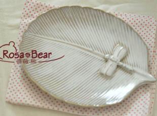 日式芭蕉叶造型餐盘(中)点心盘 家居陶瓷 出口 西餐餐具,盘碟,