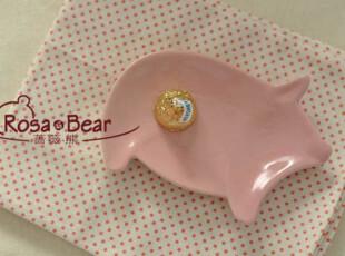 小猪造型料碟 家居陶瓷 出口,盘碟,
