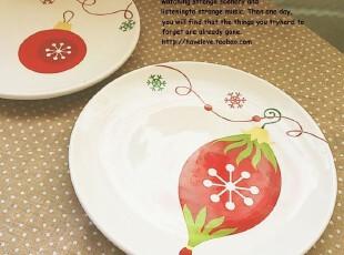 【有爱小铺】 zakka杂货 家居 圣诞彩蛋陶瓷 小餐盘,盘碟,