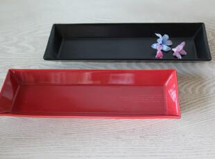 外贸尾单 欧美宜家现代家居创意 红黑变奏陶瓷简约版长方形套盘,盘碟,