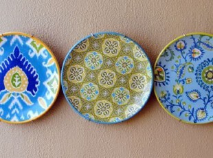 外贸出口美国 美式乡村 欧式田园 复古花纹 餐盘 装饰盘3款可选,盘碟,