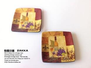 【有爱小铺】 杂货zakka  复古调调 欧式哑光 陶瓷方形碟,盘碟,