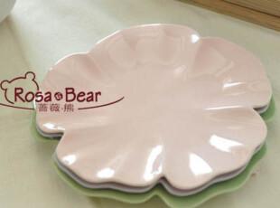 糖果色花朵餐盘(三色可选) 餐盘 家居陶瓷 出口 西餐餐具,盘碟,