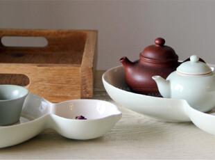 水生之城/香港国林正品精品瓷器创意礼品/土绿色葫芦形雅瓷双盘套,盘碟,