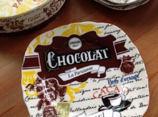 NOSTALGIE 外贸陶瓷餐具 珐琅瓷 怀旧系列 盘子/点心盘/蛋糕盘,盘碟,