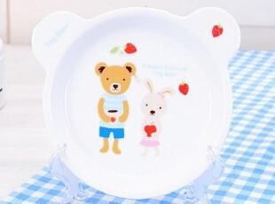 ★公主梦想★韩国家居*可爱Tag熊宝宝*小熊造型卡通餐盘 W572,盘碟,