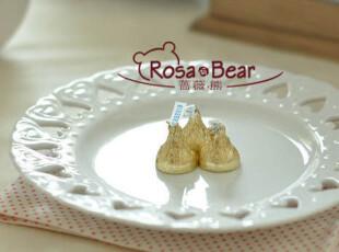 圆形桃心镂空餐盘 点心盘 赏盘 家居陶瓷 出口 西餐餐具,盘碟,