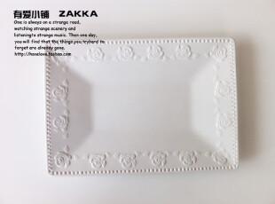 【有爱小铺】 杂货zakka 家居 玫瑰浮雕 复古餐盘 果盘 盘子,盘碟,