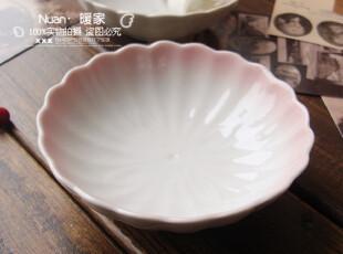 2104 梦里花开。日式和风 陶瓷餐具 粉色花瓣碗 花边碟 小菜碟,盘碟,
