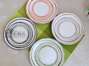 微疵8英寸|盘子|西餐牛排盘|装饰盘|外贸陶瓷餐具|出口原单尾货,盘碟,