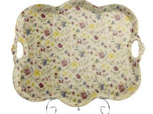 欧式高档手工描金盘 陶瓷 陶瓷水果盘 盘子,盘碟,
