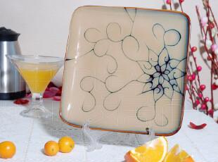 欧洲Roscher名品陶瓷 外贸瓷器餐具 藤蔓花 西式西餐方盘 牛排盘,盘碟,