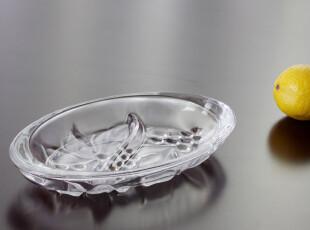 【Florale 弗洛拉】无铅玻璃分格果盘 点心盘,盘碟,