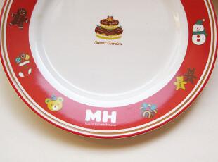 景德镇陶瓷 樱桃红:MH骨瓷蛋糕盘 190mm浅盘 点心碟子,盘碟,