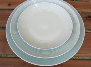 外贸陶瓷 瓷器餐具英国皇家RD浅蓝色餐盘/西餐盘/果盘[特大号],盘碟,