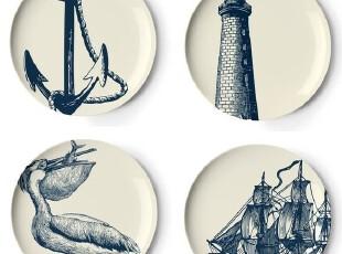 【纽约下城公园】水手的记忆开胃盘/装饰盘组(四个),盘碟,