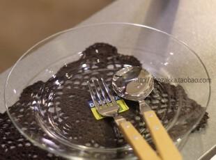 Fan's zakka杂货 法国进口钢化玻璃透明色丽斯餐具 盘(大号),盘碟,