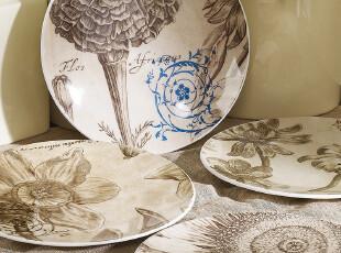 Harbor House Duncan 骨瓷月光餐盘 平盘 厨房用品 四款可选,盘碟,