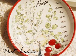 出口欧美 彩色手绘陶瓷小碟 零食碟 醋碟 外贸出口余单品,盘碟,