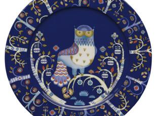 芬兰Iittala Taika 魔幻森林 缤纷大餐盘 蓝色 30cm 送礼佳品,盘碟,