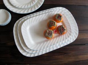 陶瓷餐具瓷器礼品LZ蓝菊 长餐盘 装饰盘子 鱼盘,盘碟,