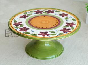 冲冠特价*蛋糕盘*点心盘*水果托盘*平盘*外贸出口陶瓷手绘餐具,盘碟,