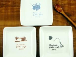 ZAKKA日式陶瓷小方碟 小菜碟 料理碟 点心碟 三款可选 特价3.9元,盘碟,